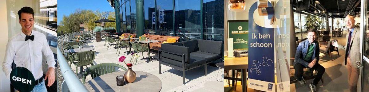 Welkom bij Bar Beton!We zijn open voor uw (online) bijeenkomsten! De terrassen zijn open voor lunch en borrel!